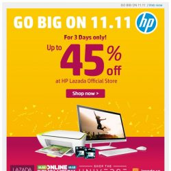 [HP Singapore]  11.11 Sale is Here. Up to 45% off!