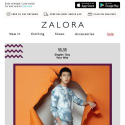 [Zalora] 📢 Breaking News: FLASH SALE - EXTRA 18% Off Sitewide!