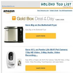 [Amazon] Save Big on the Butterball Fryer