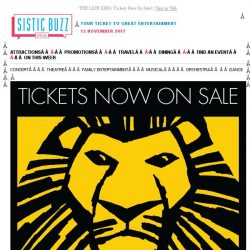 [SISTIC] [RESEND] THE LION KING: Tickets Now On Sale!