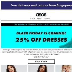 [ASOS] 25% off dresses – Black Friday's coming!