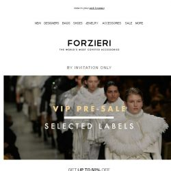 [Forzieri] Now on Pre-SALE, 5 Must-have Designers just in
