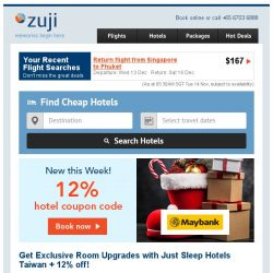 [Zuji] Live it up with our free foom upgrades +12% off!