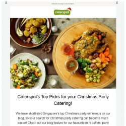 [CaterSpot] Plan your Christmas Party with Caterspot!