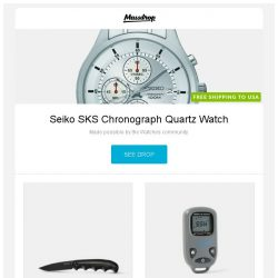[Massdrop] Seiko SKS Chronograph Quartz Watch, Kershaw Al Mar AM-5 Assisted Folding Knife, Brunton Get-Back Mini GPS and more...