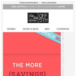 [Saks OFF 5th] We're feeling festive: take an EXTRA 40% OFF w/ code...