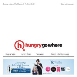 [HungryGoWhere] 15% off Total Bill, 50% off 2nd Diner, & more School Holidays Specials!