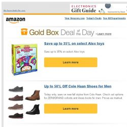 [Amazon] Save up to 35% on select Alex toys