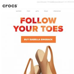 [Crocs Singapore] Isabella Slingback! Follow your toes!