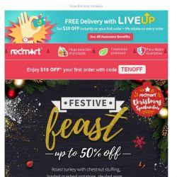 [Redmart] $10 OFF minimum $40, and up to 50% OFF Thanksgiving must-haves! 🍗