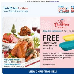 [Fairprice] Grab our Christmas Deli Early Bird Specials!