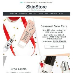 [SkinStore] Seasonal Skin Care | Shop up to 20% off