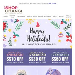 [iShopChangi] All I want for Chr 🎄 stmas is