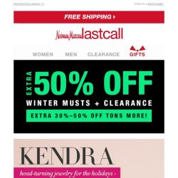 [Last Call] Save on Kendra Scott + MUCH MORE extra 30%–50% off