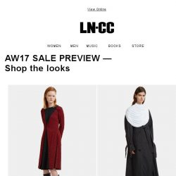 [LN-CC] AW17 Sale Preview: Shop the looks - enjoy 30% off on selected collections