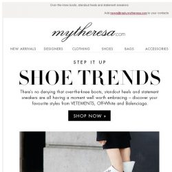 [mytheresa] 3 shoe trends we can't resist...