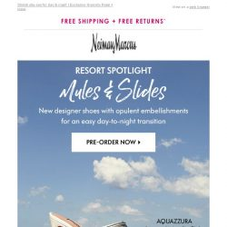 [Neiman Marcus] Just-in shoes from Aquazzura, Jimmy Choo