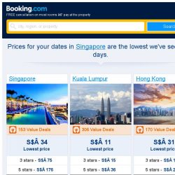 [Booking.com] Prices in Singapore are the lowest we've seen in 8 days!