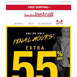 [Last Call] FINAL HOURS: extra 55% off cashmere & winter musts