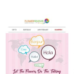 [Floweradvisor] Hola, Bonjour, Ciao. Send Your International Hello With Our Bl🌎🌏ms!