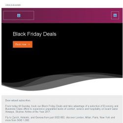 [Qatar] Black Friday Deals. Fly to Europe from SGD 850.