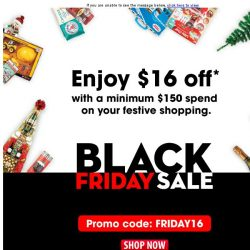 [Fairprice] Black Friday Sale: Enjoy $16 off on your festive shopping!