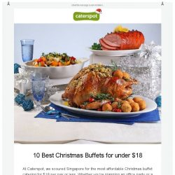 [CaterSpot] The Best Christmas Buffets in Singapore for under $18