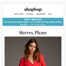 [Shopbop] Up to 75% off during Buy More, Save More! + dresses you won't freeze in