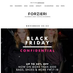 [Forzieri] Black Friday NOW up to 50% Off 3500+ items