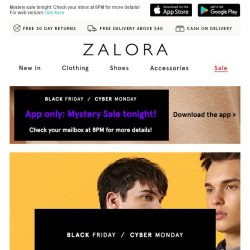 [Zalora] Surprise! Black Friday came early: Take EXTRA 35% Off!