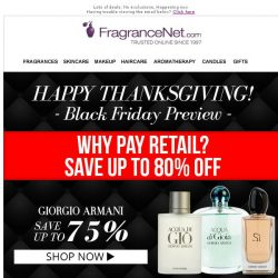 [FragranceNet] Black Friday Preview: Save up to 80% - Why pay retail prices?