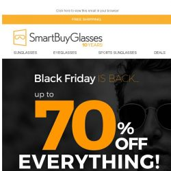 [SmartBuyGlasses] Black Friday is here! So are once in a lifetime offers! Up to 70% off eyewear 🖤