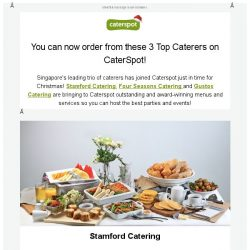 [CaterSpot] Singapore's Leading Caterers have joined us in time for Xmas!