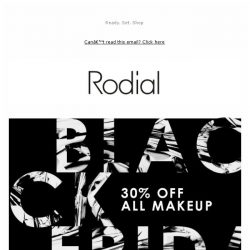 [RODIAL] 30% off all Makeup | It's Black Friday!