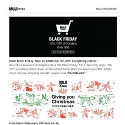 [Muji] MUJI Black Friday and Christmas Specials