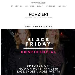 [Forzieri] Final Hours for Black Friday Exclusives