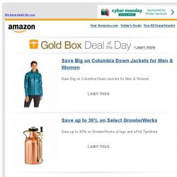 [Amazon] Save Big on Columbia Down Jackets for Men & Women