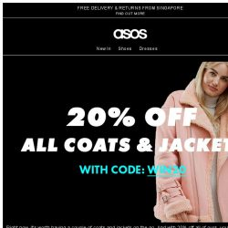 [ASOS] 20% off everything – our coats and jackets edit