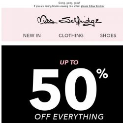 [Miss Selfridge] Up to 50% off - selling fast!