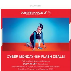 [AIRFRANCE] It's Cyber Monday! A surprise awaits you in your inbox