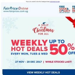 [Fairprice] Weekly Hot Deals: Save up to 50% every Mon, Tues & Wed!