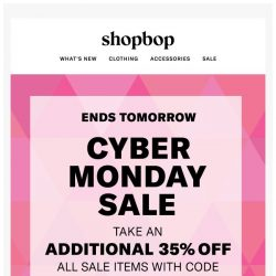 [Shopbop] Extra 35% off ALL sale for Cyber Monday with code WOW35
