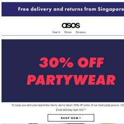 [ASOS] Get your (30% off) party on