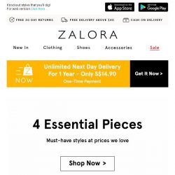 [Zalora] Style Start: Essentials for your wardrobe