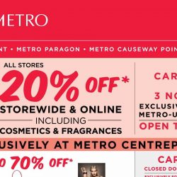 Metro: Enjoy 20% OFF Storewide including Cosmetics & Fragrances at all Metro Stores & Online!