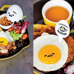 Gudetama Cafe: Diner's Choice Set Menu for Gudetama Cafe Singapore at $19.90++ Per Pax!