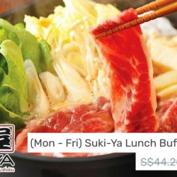Suki-Ya: Weekday Lunch Buffet for 2 at only $39!