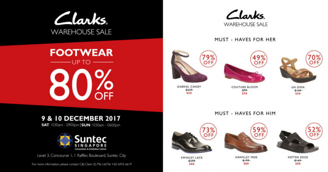 d7f49e6f13a5 Clarks  Warehouse Sale with Up to 80% OFF Footwear 9 - 10 Dec 2017 ...
