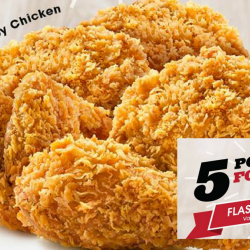 KFC: Enjoy 5 Pieces of Chicken at only $10!
