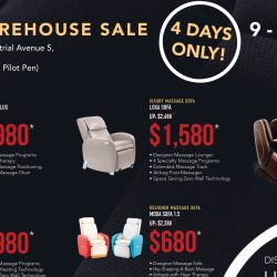 Ogawa: Warehouse Sale with Up to 70% OFF Display Massage Chairs and Sofas